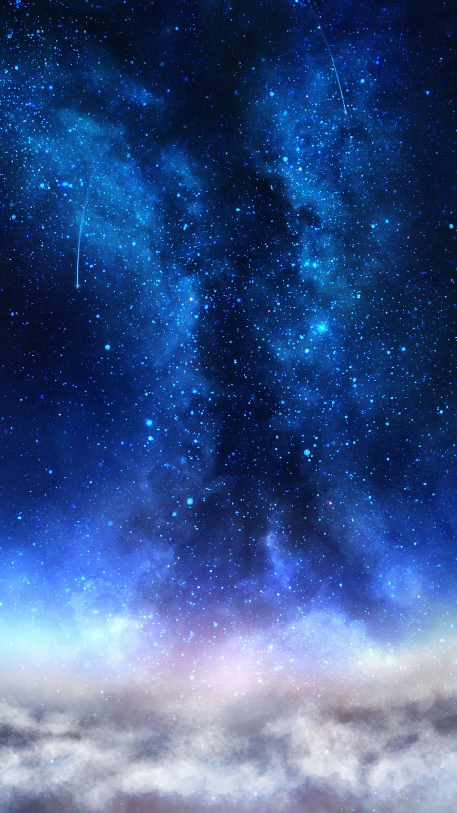 Milky Way In 2020 With Images Galaxies Wallpaper Blue Wallpapers Galaxy Painting
