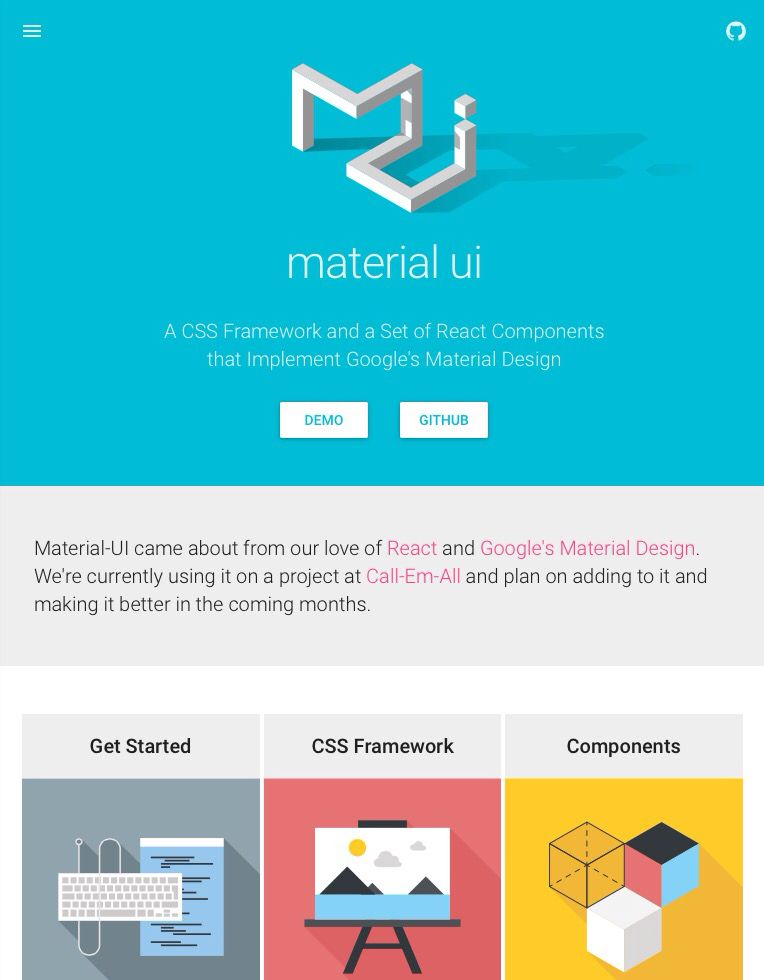 material ui - A CSS Framework and a Set of React Components