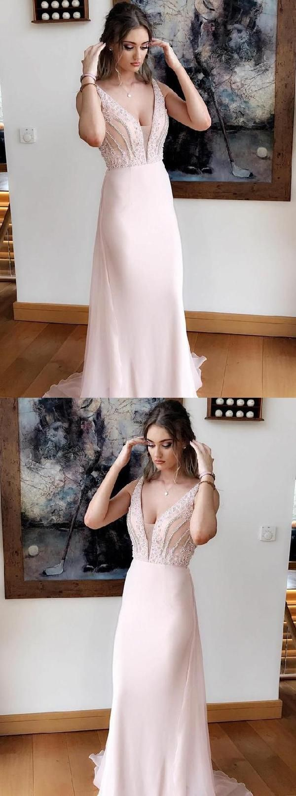 Hot sale distinct chiffon prom dresses prom dresses pink prom