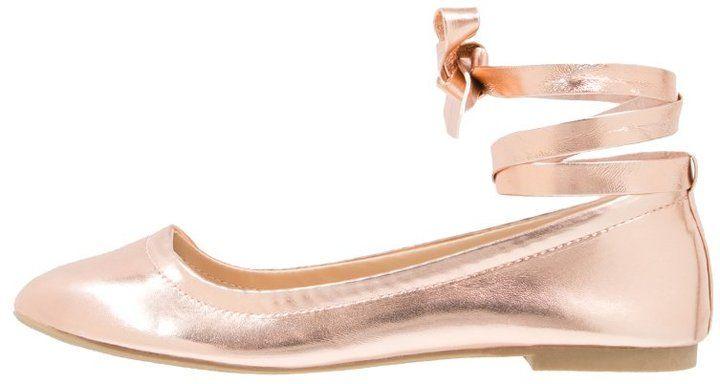 168144c7a Rose Gold Bridal Flats metallic