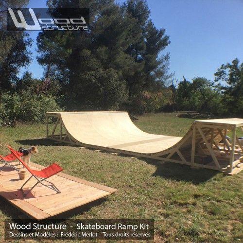 mini rampe skate 4 5 design wood structure rampes minis et trottinette. Black Bedroom Furniture Sets. Home Design Ideas