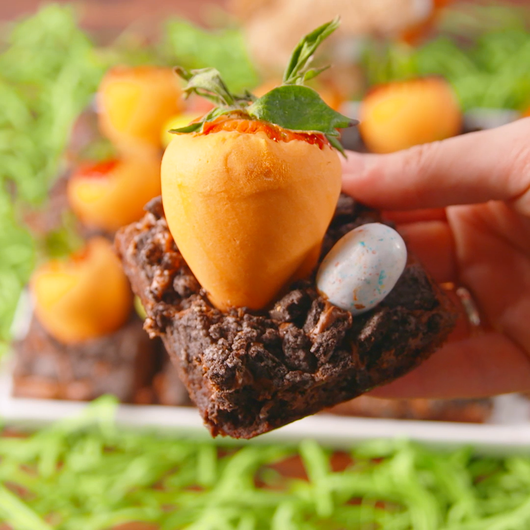 Carrot Patch Brownies are the no-fail Easter dessert you ll make every year for your party. Get the