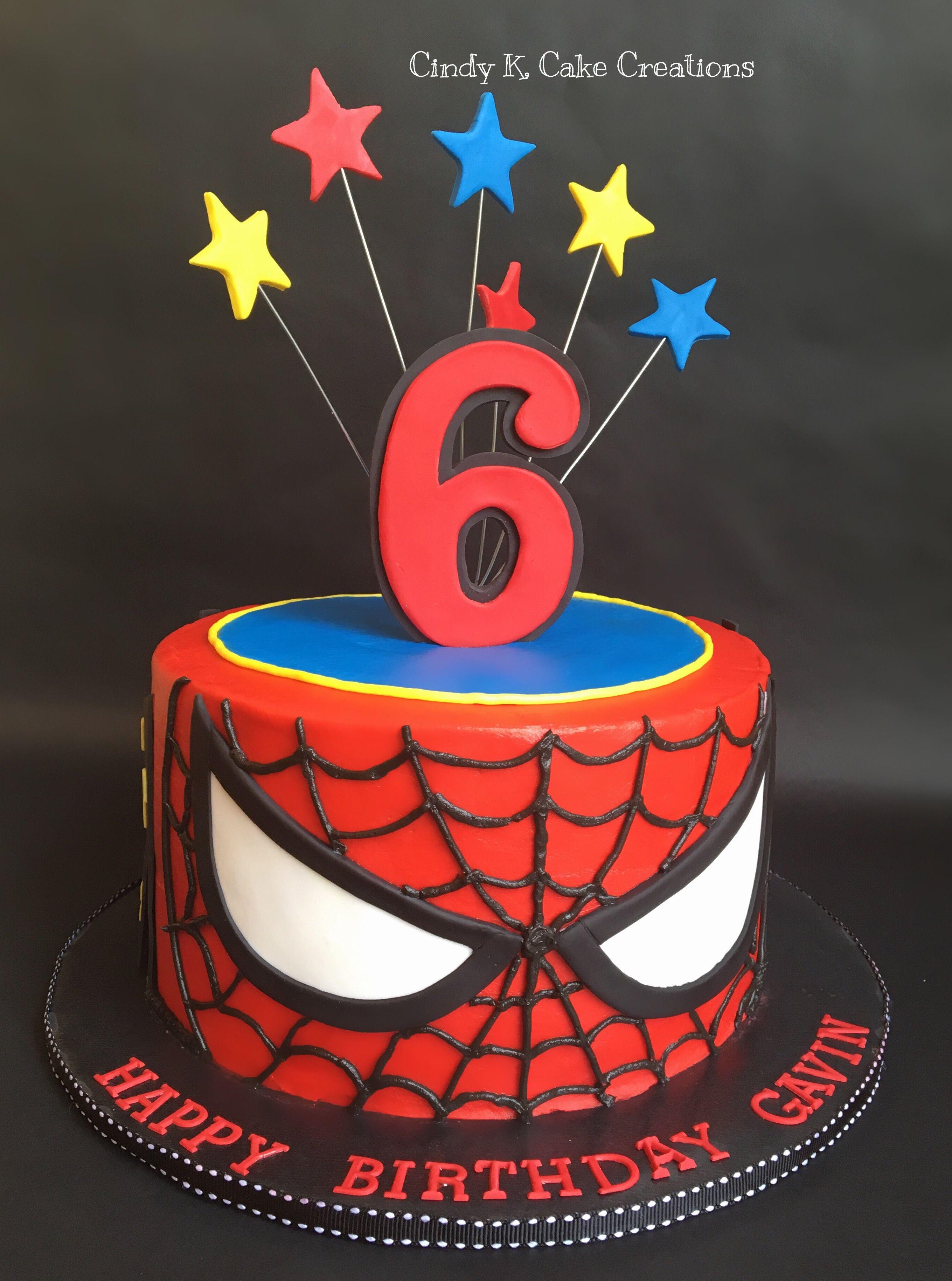 Spider Man Cake Made With Buttercream By Cindy K Cake Creations Spiderman Kuchen Beste Geburtstagskuchen Geburtstagskuchen Fur Jungen
