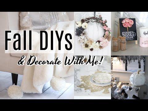 Diy Fall Wreath, DIY Cosy Fall Blanket & DIY Coffee Station Decor!