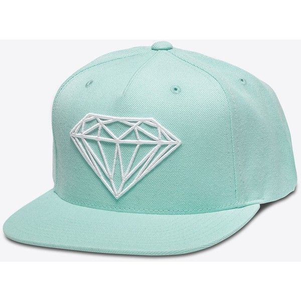 new arrival cd2f9 1fef4 Brilliant Snapback in Diamond Blue ( 100) ❤ liked on Polyvore featuring  accessories, hats, diamond snapback hats, blue snapback hats, diamond  snapback, ...