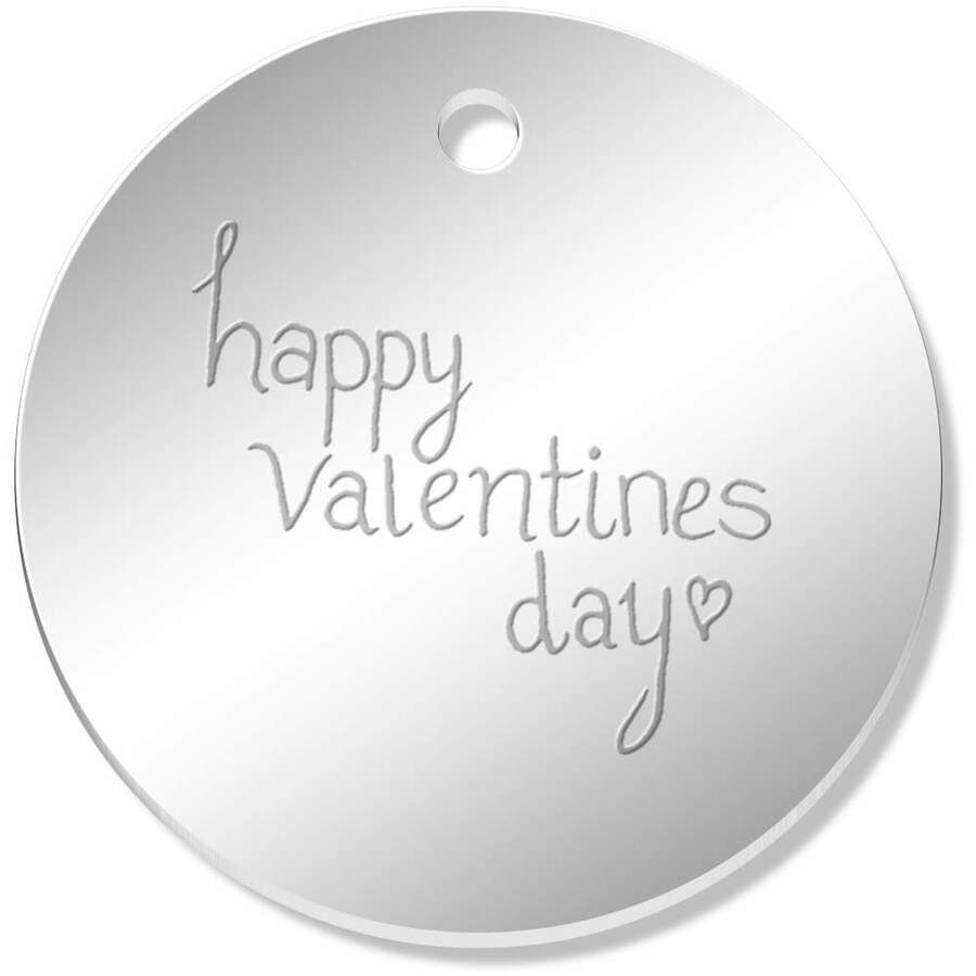 PN00009410 Charms 11 x 34mm /'Happy Valentines Day/' Mirror Pendants