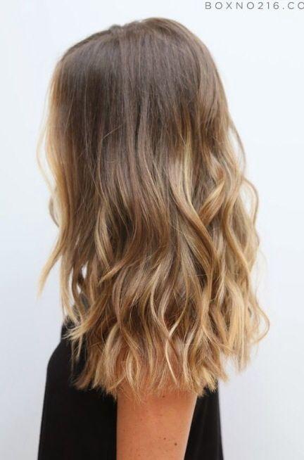 Mid one length hair cut | Mid legnth hair cuts | Hair, One ...