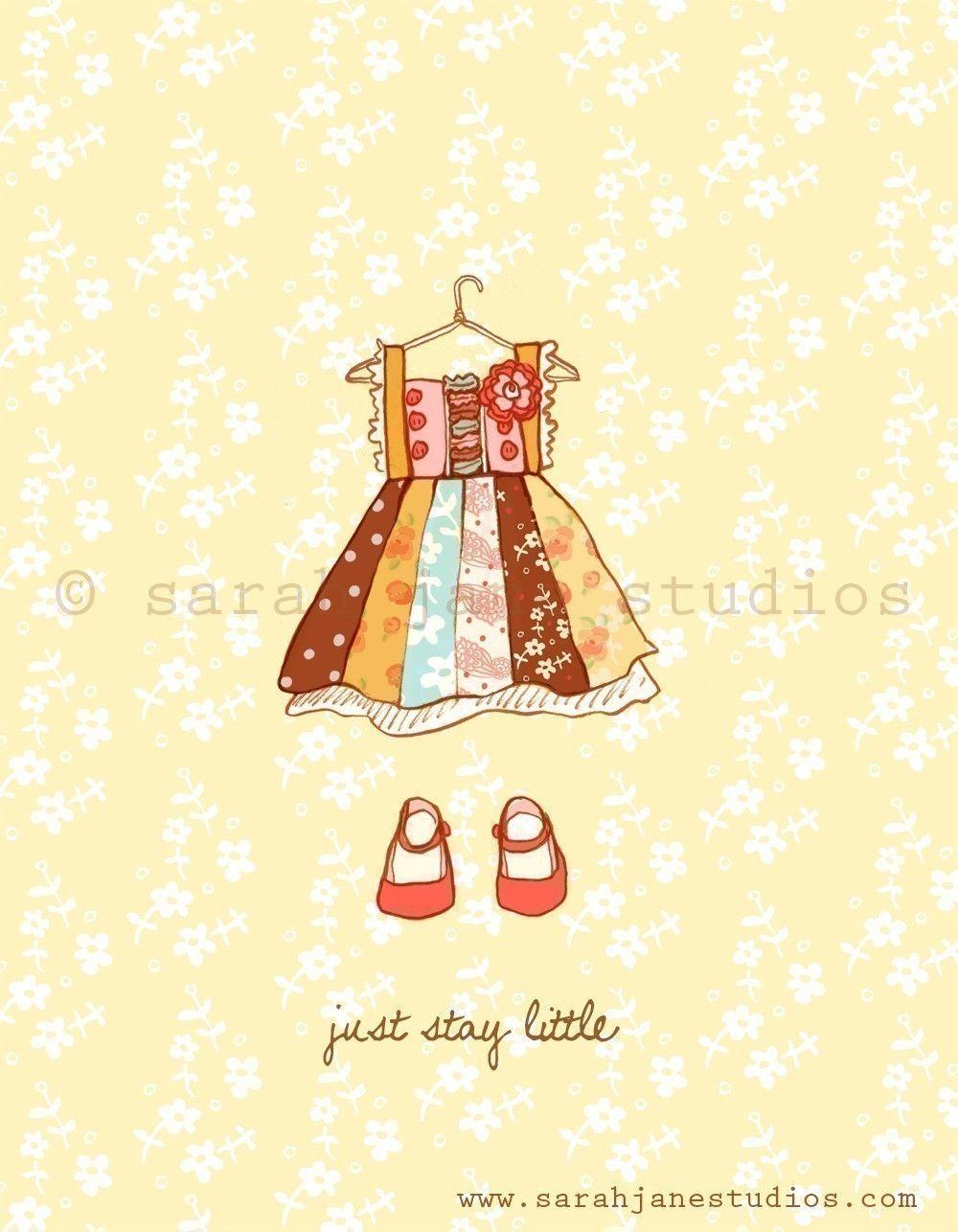 Childrens Wall Art Print - Just Stay Little (Girl) - 8x10 - Girl ...