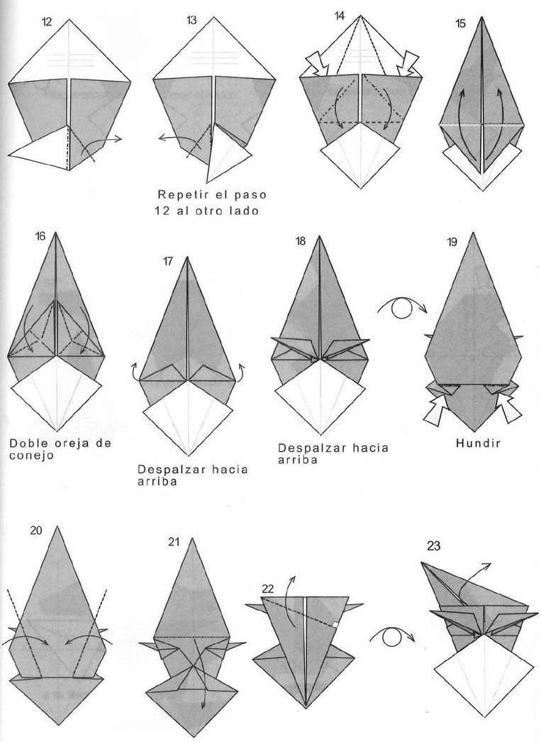 Origami Wolf 23 By Bolsitadweed Origami Pinterest Origami