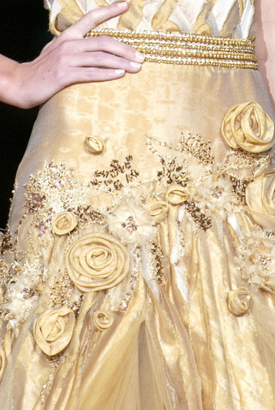 Beading and rosettes -Elie Saab 2006 spring