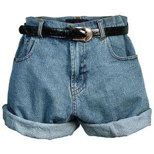 Retro Oversized High Waist Denim Shorts with Waistband | Fashion ...