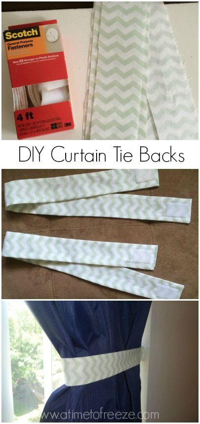 Diy Curtain Tie Backs A Simple Tutorial Diy Curtains Curtain