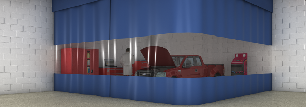 Auto Curtains & Auto Body Shop Curtain Walls (Fire Rated