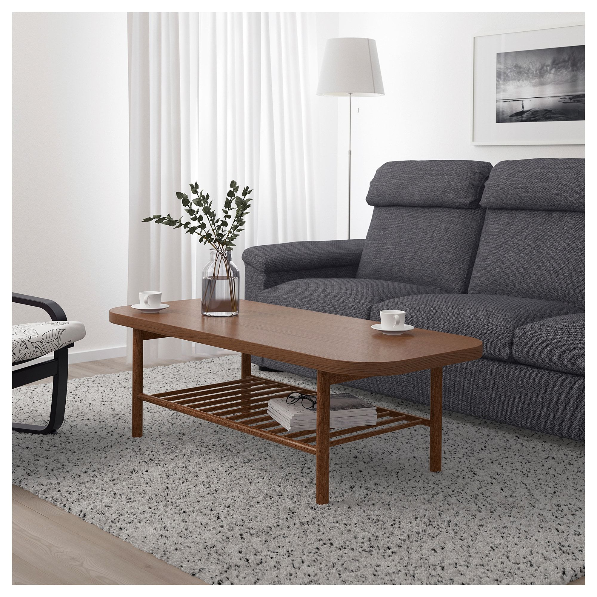 Listerby Coffee Table Brown 55 1 8x23 5 8 Ikea Coffee Table Ikea Coffee Table Wooden Coffee Table Designs [ 2000 x 2000 Pixel ]