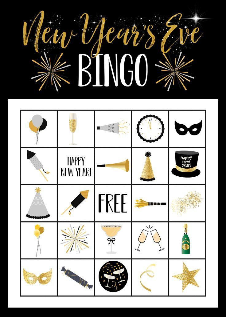 New Year's Eve Bingo Game in 2020 Kids new years eve