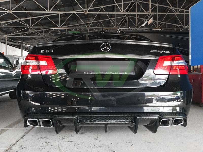 Mercedes W212 E63 Renn Style Cf Diffuser Carbon Fiber