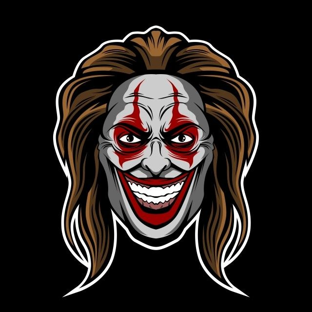 Very Bad Clown Illustration Vector And Png Clown Illustration Illustration Portrait Girl