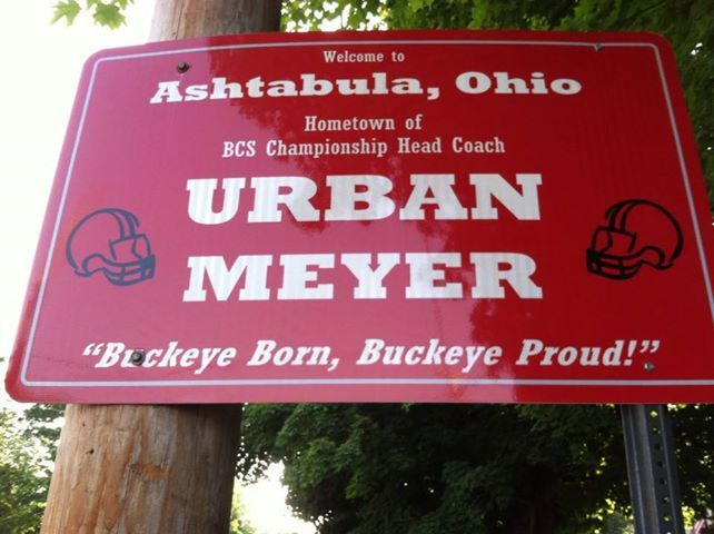 WE ARE SO PROUD OF OUR HOMETOWN BOY, URBAN MEYER !!!