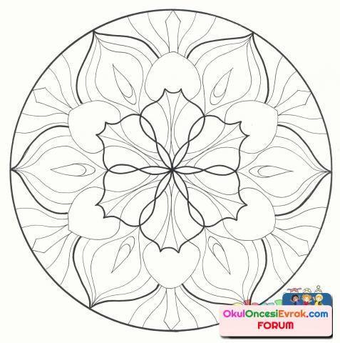 Cicekli Zor Mandala Ornegi Goruntuler Ile Boyama Sayfalari Mandala Mandala Mandala Art