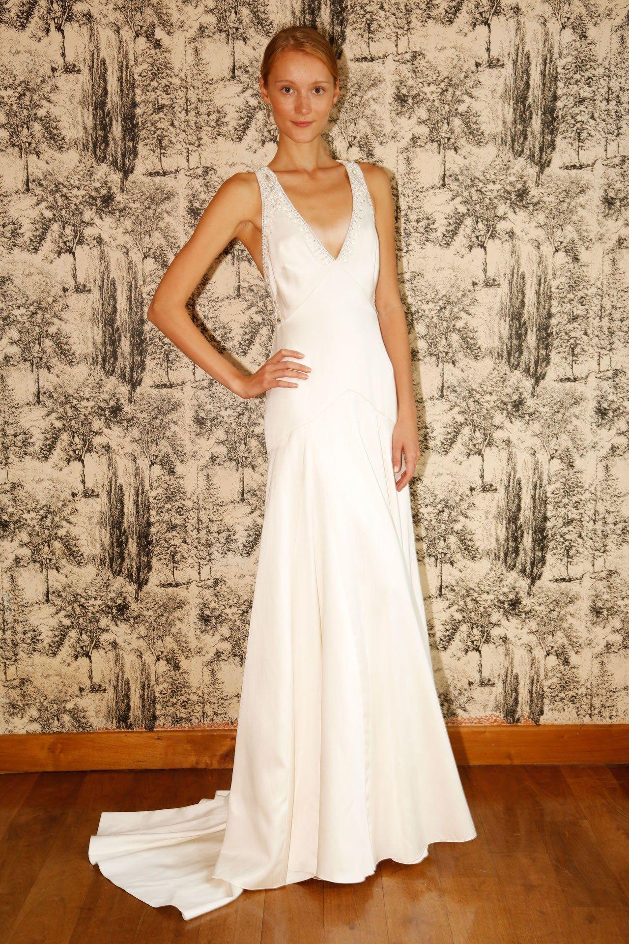 Silk sheath wedding dress  Wedding Dresses  The Ultimate Gallery BridesMagazine