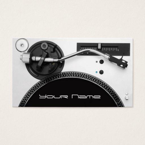 DJ Business Card DJ Business Cards Pinterest Dj business cards