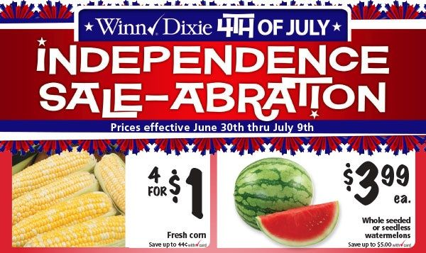 Winn Dixie Independence Day Sale-Abration 6/30 - 7/9! ~