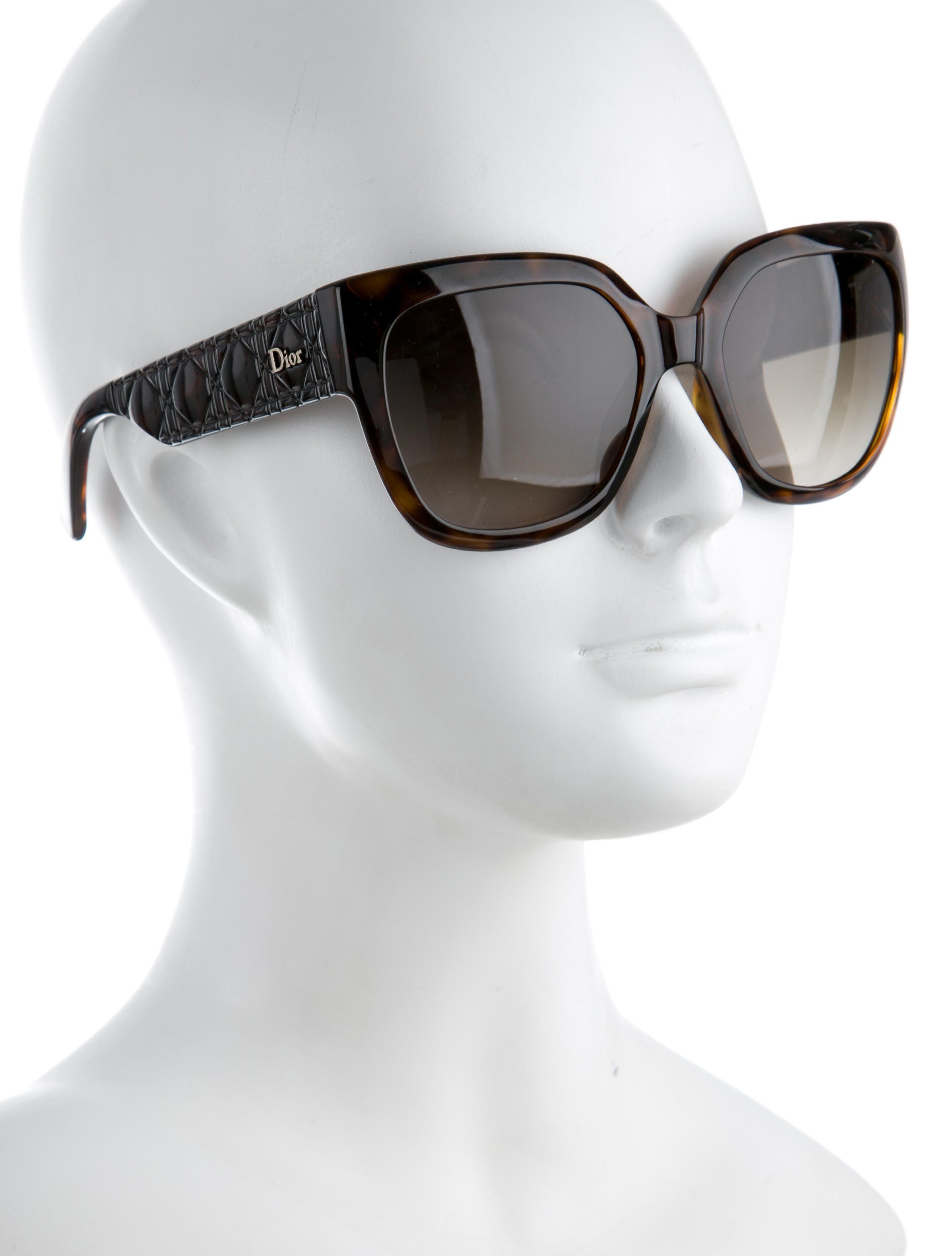 60512b3675 From Current Collection. Brown Christian Dior MyDior 3N sunglasses with  tinted lenses and Cannage arms featuring gold-tone logo.