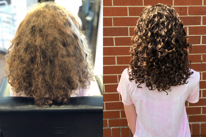 Ouidad Haircut By Skyler In 2020 Ouidad Haircut Curly Hair Salon Curly Hair Styles