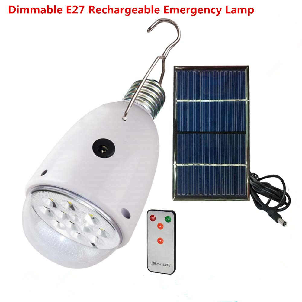 Rechargebal indoor lighting dimmable e27 led solar lamp with remote rechargebal indoor lighting dimmable e27 led solar lamp with remote control ac90260vdc6v aloadofball Image collections