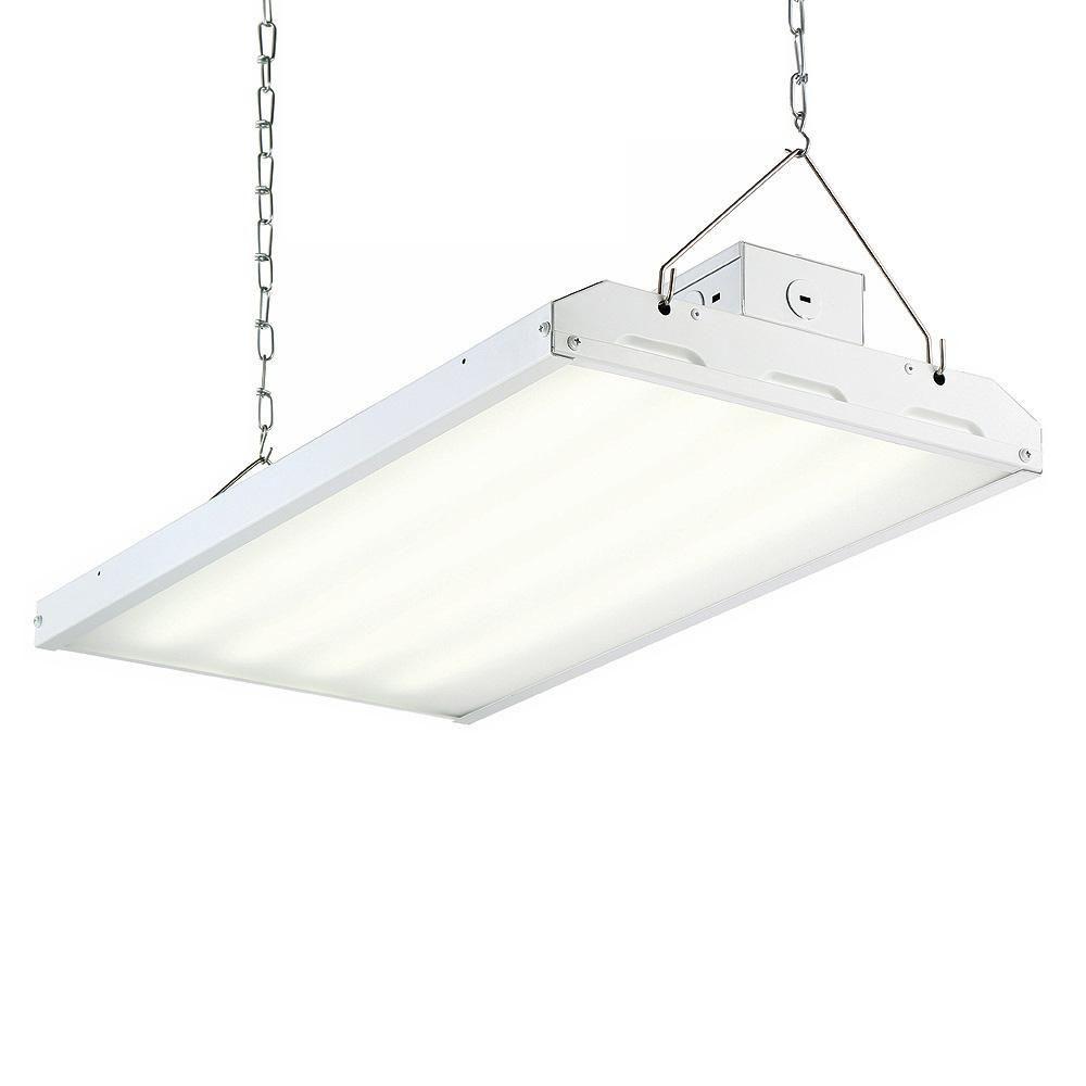 Envirolite 108 Watt 2 Ft White Integrated Led Backlit High Bay Hanging Light With 12899 Lumen 5000k 24 Pack Hb2b13dmd50 24 The Home Depot High Bay Lighting Light Fixtures Lamp