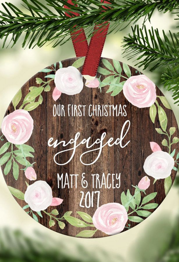 18 Stunning Custom Made Christmas Engagement Ornament Ideas