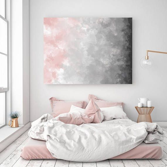 Photo of Blush Gray Painting, Digital Print, Scandinavian Decor, Ombre Art, Grey Watercolor Print, Abstract Art, Modern Print, 22×28 in, Print Avenue