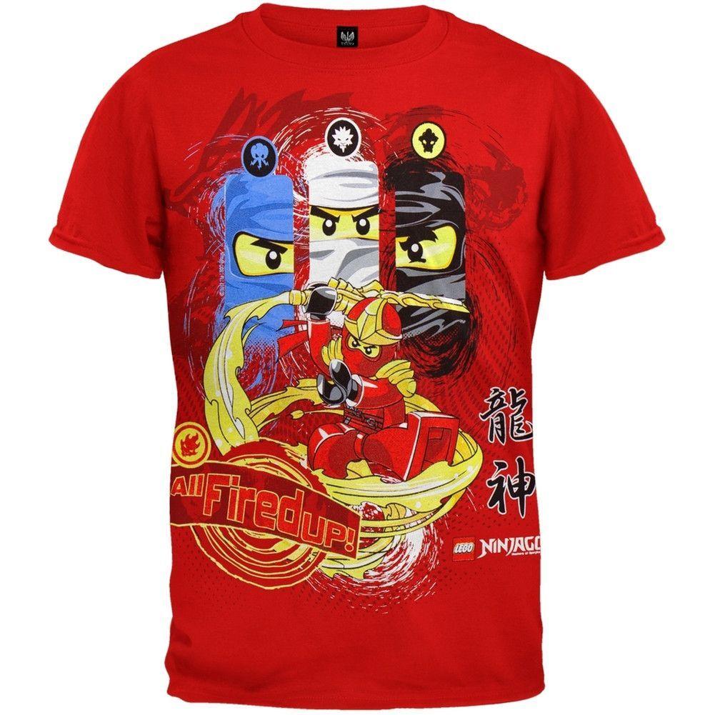 lego ninjago  all fired youth tshirt  t shirt lego