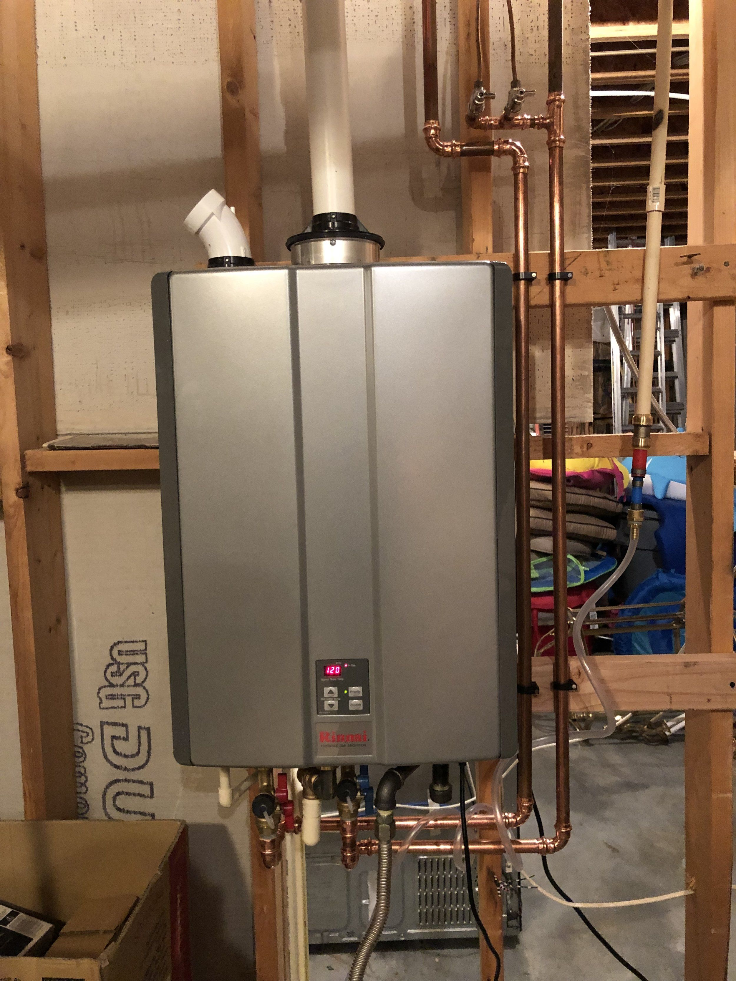 Can I Set The Temperature Higher Than 120 On My Rinnai Tankless Temperatures Tankless Water Heater Canning
