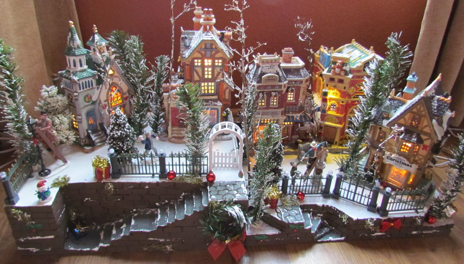 CHRISTMAS Village DISPLAY, Big Staircase! ce platform base ...
