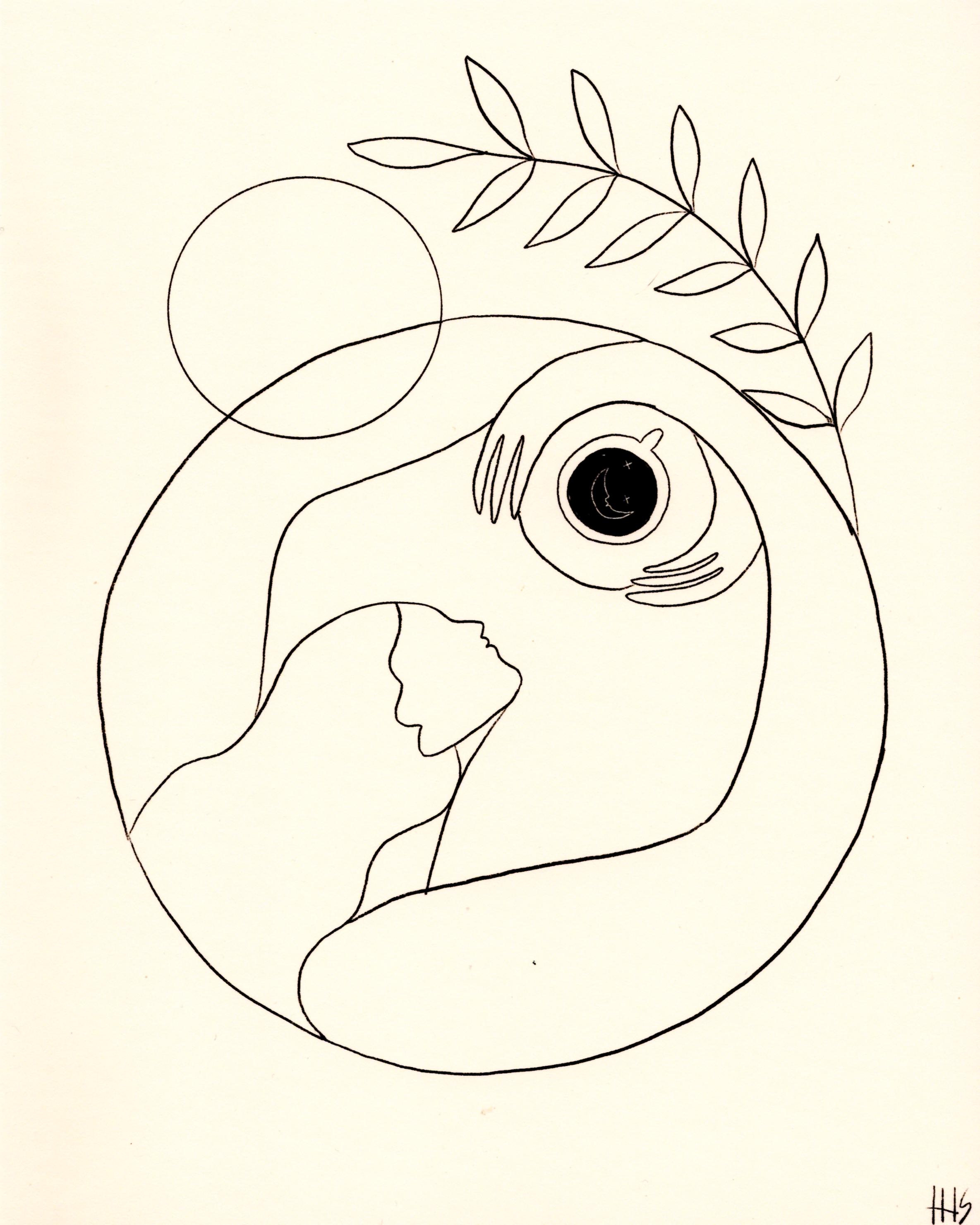 Photo of Morning Coffee Line Drawing Art Print – Maggie Stephenson — Bon Femmes