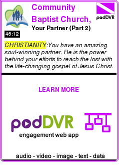 #CHRISTIANITY #PODCAST  Community Baptist Church, South Riding, VA 20152    Your Partner (Part 2)    LISTEN...  https://podDVR.COM/?c=6932ea4d-925e-8166-a46b-0ee645cc66f8