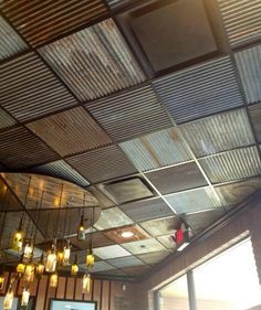 ceiling tile makeover google search more - Drop Ceiling Makeover