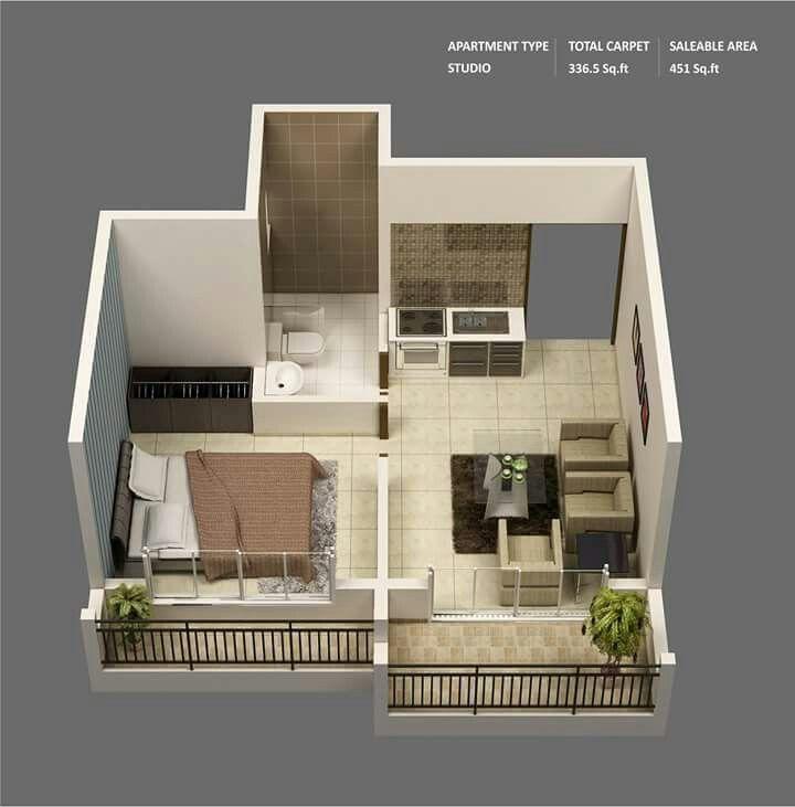 Studio Type Minimalis Bgt One Bedroom House Plans 1 Bedroom House Plans Studio Apartment Floor Plans