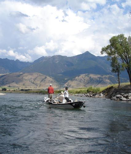 The gallatin river lodge is a secluded boutique luxury for Montana fishing lodges