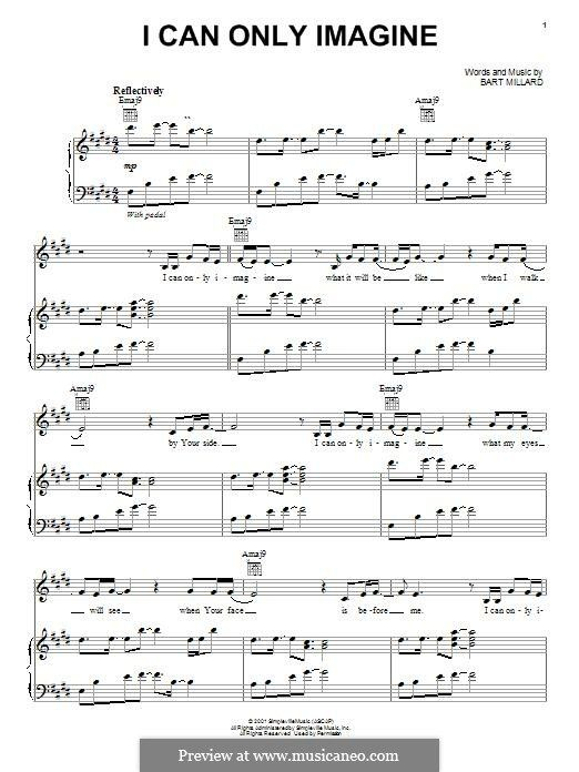 I Can Only Imagine (Mercy Me): For voice and piano (or guitar) by ...