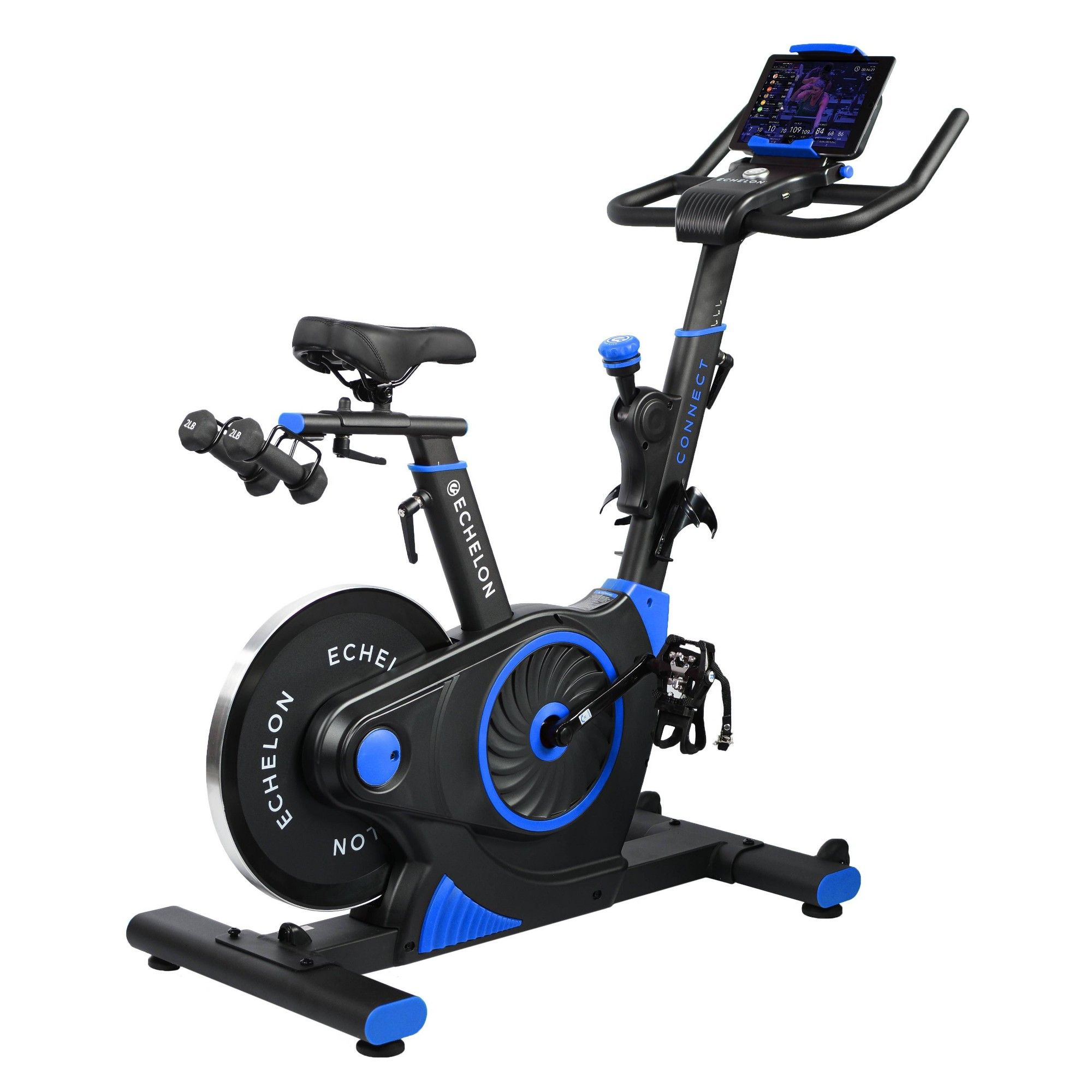 Echelon Ex3 Connect Bike Blue Recumbent Bike Workout