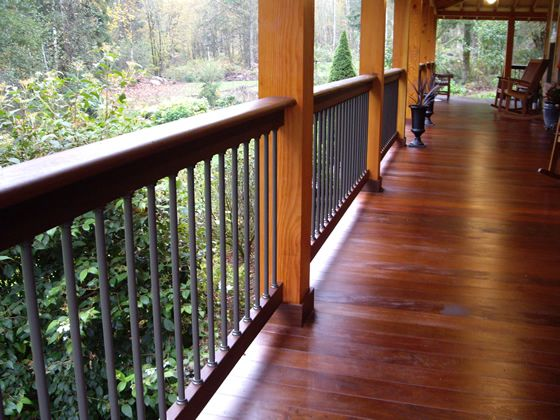 Ipe Vs Cedar Deck Which Is A Better Wood For Decking Porch Flooring Decks And Porches Hardwood Decking