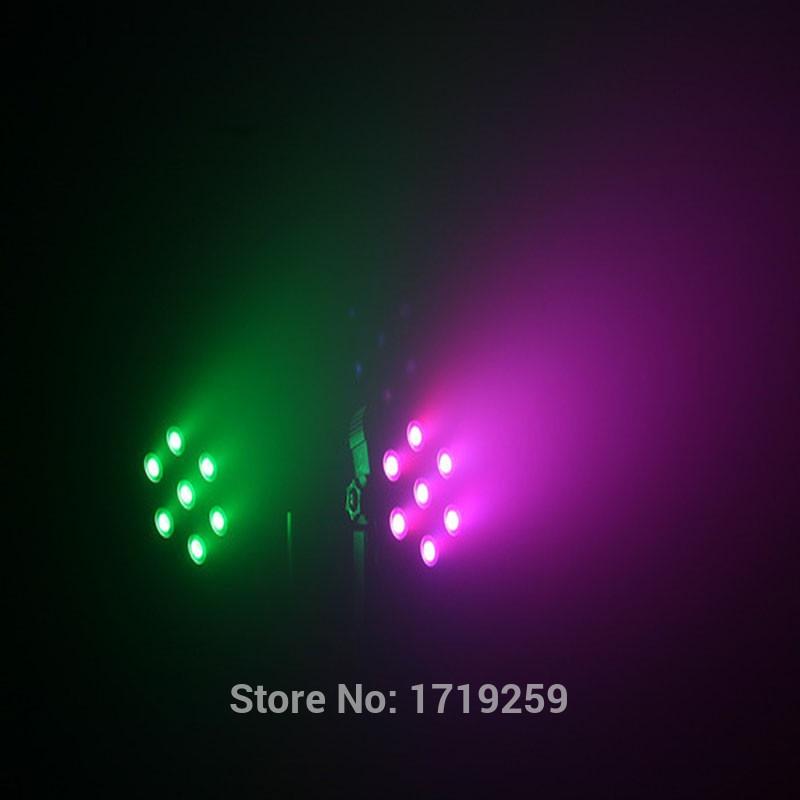 59.00$  Buy now - http://alij6g.shopchina.info/go.php?t=32309893016 - 2 pieces LED Flat Par Lights SlimPar Quad 7x12W RGBW LED Stage Wash Par Light Uplighting  #shopstyle
