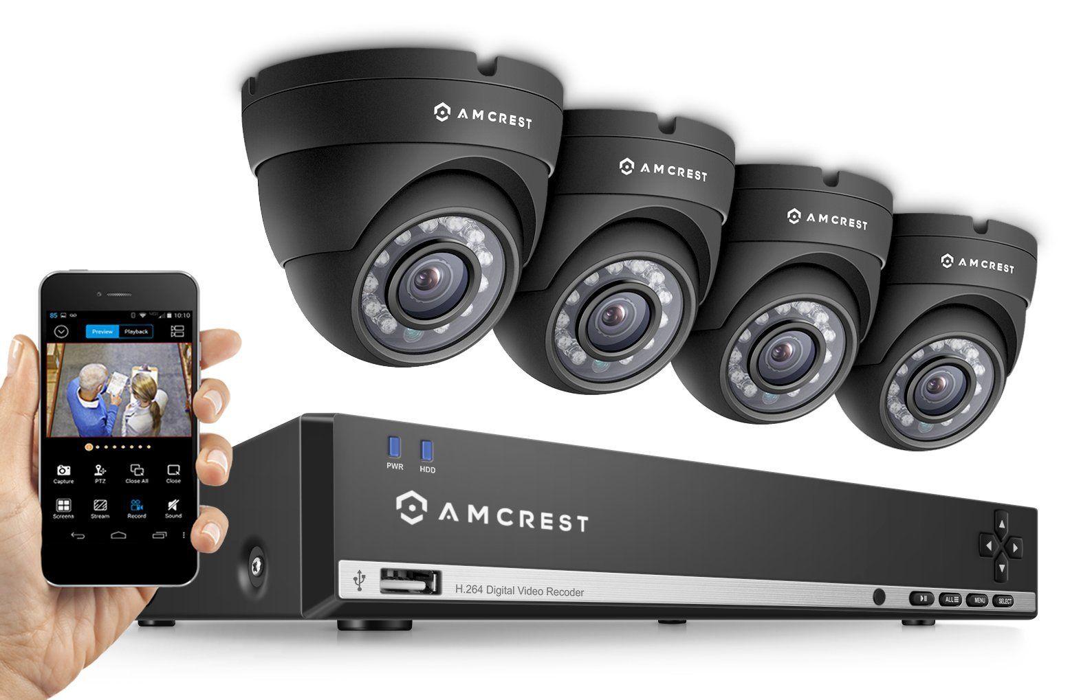Amcrest 960h 4ch video security system four 800 tvl