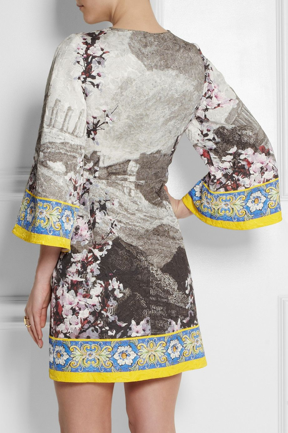 Dolce & Gabbana|Printed jacquard mini dress|NET-A-PORTER.COM