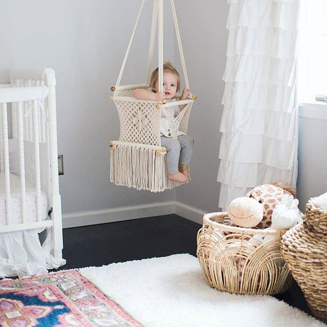 Macrame Baby Swings From Adelisa Co Are The Perfect Addition To Any Room In Your Home Their Beautiful And Natu Baby Room Decor Baby Room Design Baby Swings