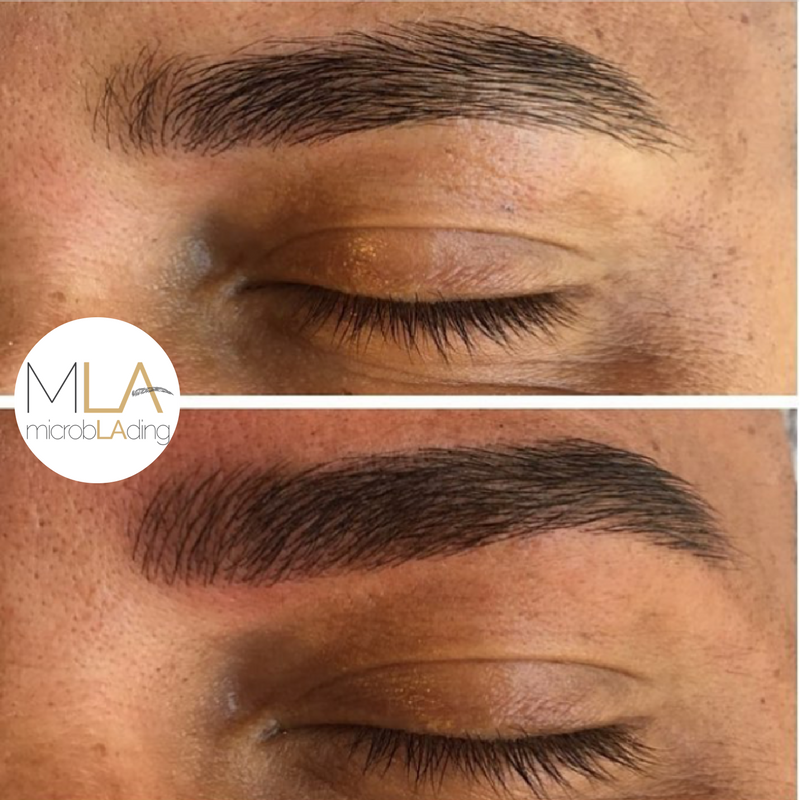 Achieved a natural & more full look for this clients brows ...
