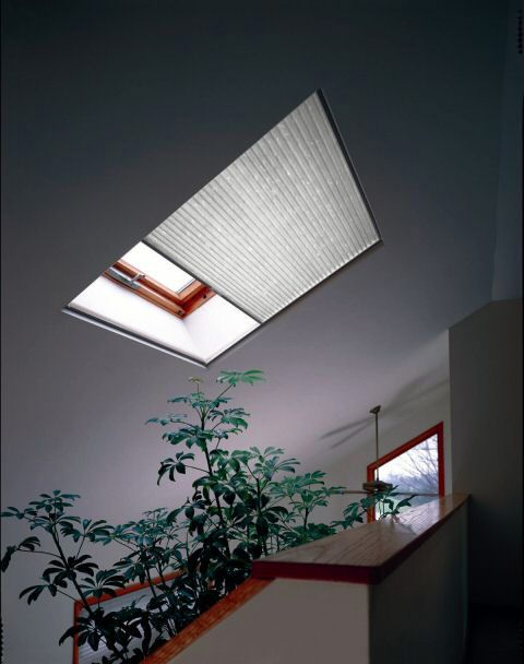 Motorized Cellular Skylight Shades Light Filtering Sample North Solar Screen Skylight Window Treatments Skylight Shade Skylight Window