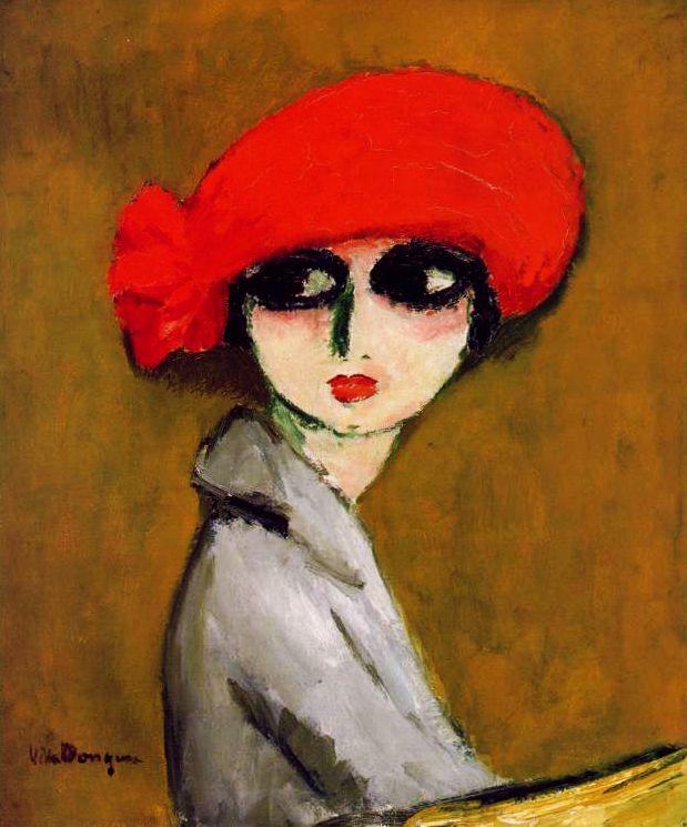 KEES VAN DONGEN - The Corn Poppy. 1919. Dongen (1877 - 1968) establecido en París en 1897, fue miembro del grupo fauvista y, por un breve período, del movimiento expresionista alemán Die Brücke.